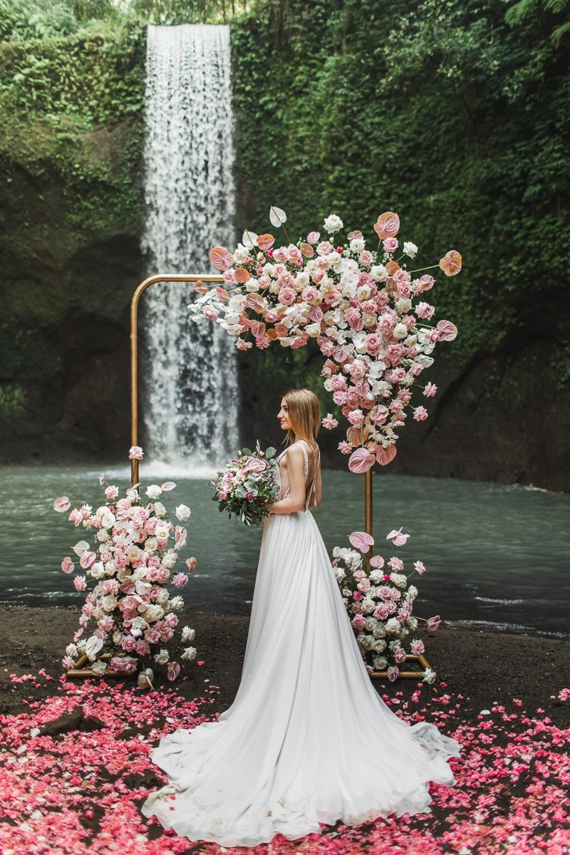 Bali waterfall elopement